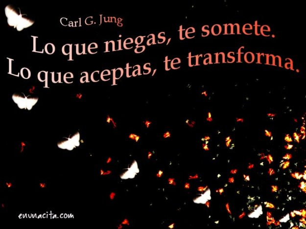 Lo que niegas te somete. Lo que aceptas te transforma. Carl G. Jung