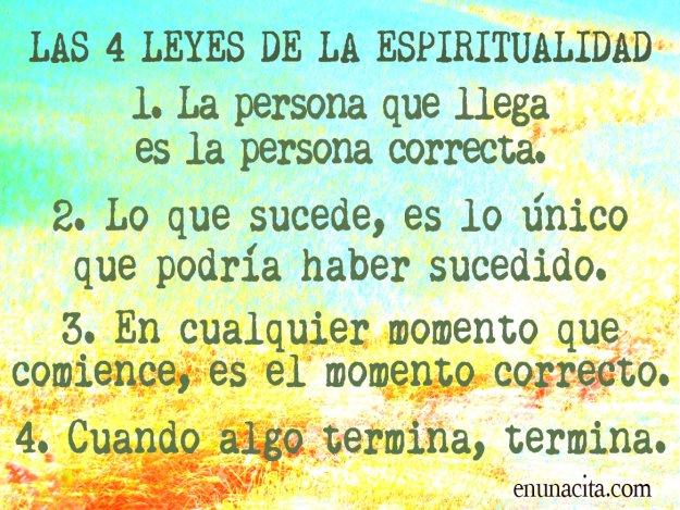 Las 4 leyes de la espiritualidad